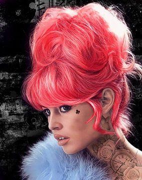 Brigitte Bardot Rot von Rene Ladenius Digital Art