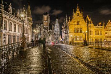 Gent, Gent by night, Belgium, Ghent, 2015,  van Jan Hagen