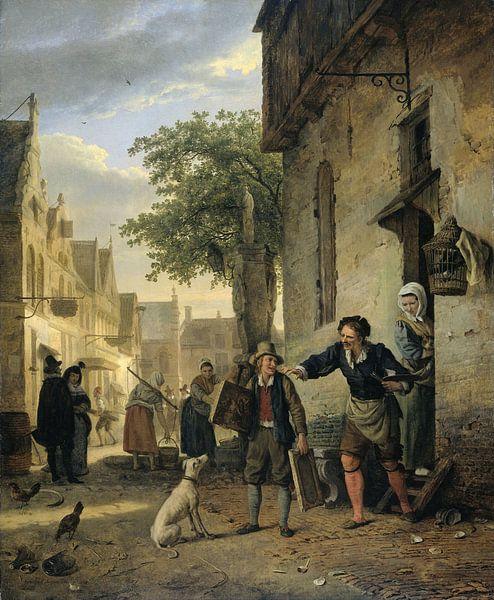 Jan Steen Sends his Son to the Streets to Exchange Paintings for Beer and Wine, Ignatius Josephus Va von Meesterlijcke Meesters