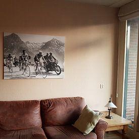 Klantfoto: Tour de France 1963: Anquetil, Bahamontes en Poulidor van Bridgeman Images, op canvas