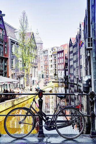 Amsterdamse Fiets op achterzijde Zeedijk, Kolkje vanaf Spooksteeg