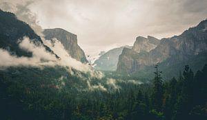 Beroemde Tunnel View in Yosemite
