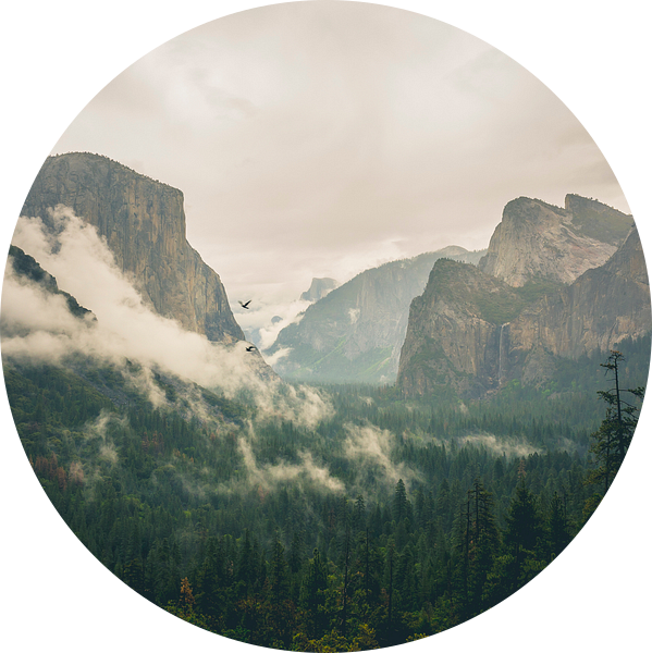 Famous Tunnel View, Yosemite von Jasper van der Meij