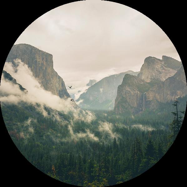 Beroemde Tunnel View in Yosemite van Jasper van der Meij