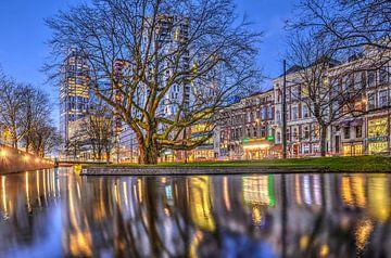 Abend am Westersingel, Rotterdam von Frans Blok