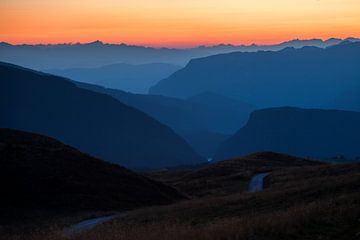 Dolomiten, Alpen, Sonnenuntergang von Frank Peters