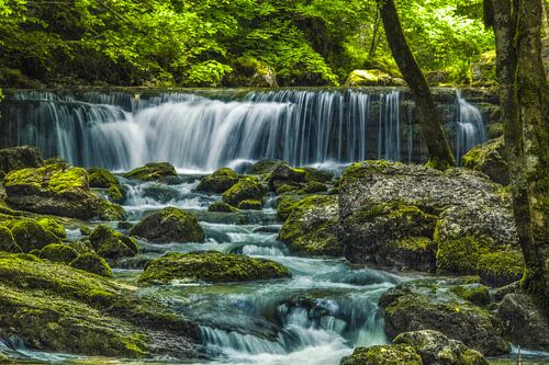 Waterval bij Cascades du Hérisson van