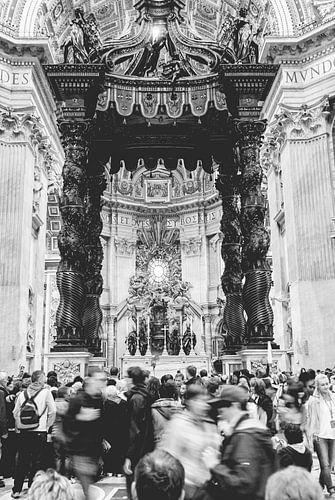 Het Vaticaan Baldakijn van Bernini in Rome