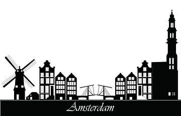 zeichnung der skyline von amsterdam von Compuinfoto .