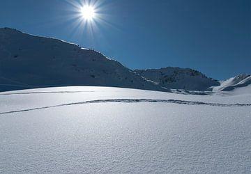 Wintersport sneeuwlandschap van