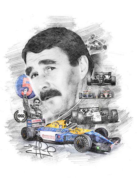 Nigel Mansell von Theodor Decker