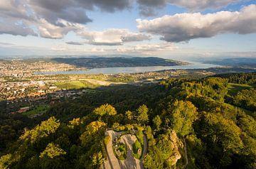 Zurich et le lac de Zurich en Suisse sur Werner Dieterich