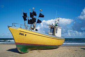 Vissersboot aan de Poolse Oostzeekust van Heiko Kueverling