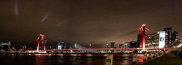Willemsbrug Rotterdam bei Nacht. von Danny Verhalle
