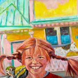 Schilderij Pippi Langkous van Liesbeth Serlie