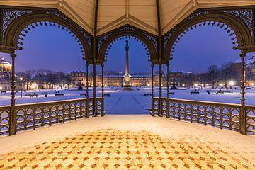 Winter am Schlossplatz in Stuttgart von Werner Dieterich