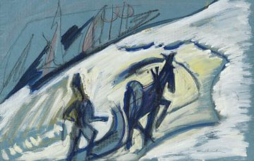 Bauer mit Pferdeschlitten, ERNST LUDWIG KIRCHNER, Um 1927 von Atelier Liesjes