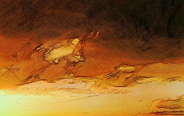 Abstrakt - Wettergeschichten - Traurig im Glühen von Schildersatelier van der Ven