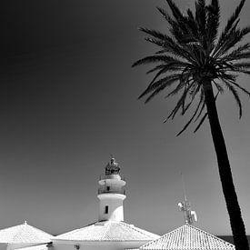 Phare, Côte méditerranéenne (noir et blanc) sur Rob Blok