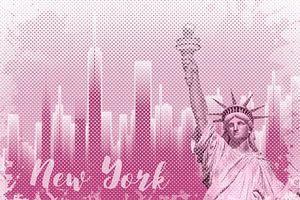 Graphic Art NEW YORK Mix No. 1 | pink | splashes