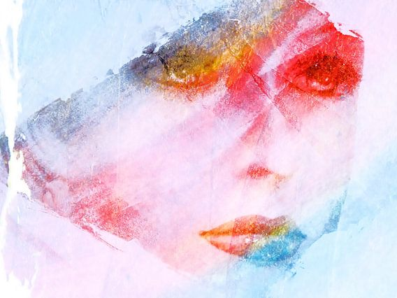 Face with pastel colors von Gabi Hampe