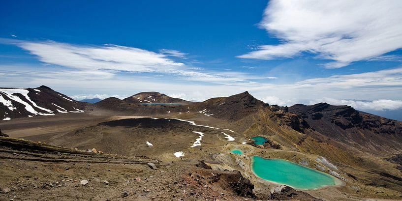 Tongariro Alpine Crossing & Emerald Lakes - Panorama, Nieuw Zeeland van Ricardo Bouman | Fotografie