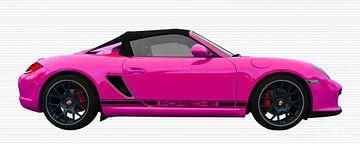 Porsche Boxster Spyder Typ 987 in pink von aRi F. Huber