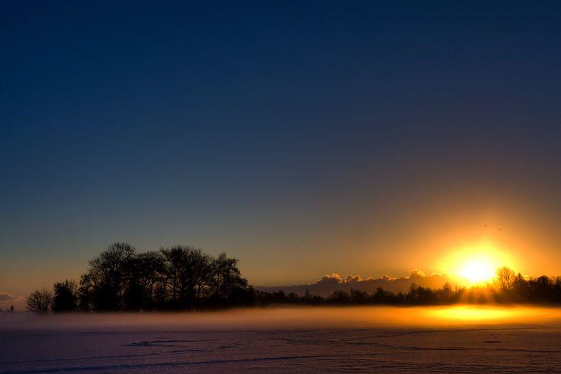 Reeuwijkse Plassen zonsopkomst van Martijn Smit