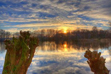 Reflecterende Zonsondergang in de Rottemeren van Dexter Reijsmeijer