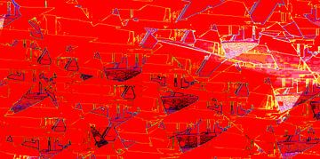 abstrakte Malerei  ROT   limitierte Auflage 1-100 AP4