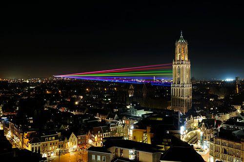Sol Lumen gezien vanaf de Neudeflat in Utrecht von Donker Utrecht