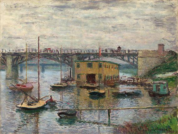 Brug bij Argenteuil op een grijze dag, Claude Monet