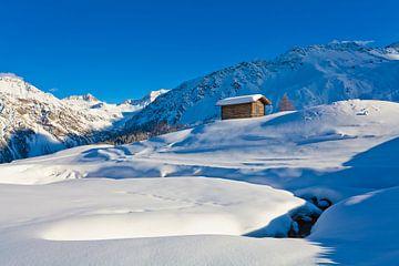 Hut in Arosa in Zwitserland van Werner Dieterich