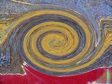 Swirl - Colors of Rust, Rust-Art van Barbara Hilmer-Schroeer