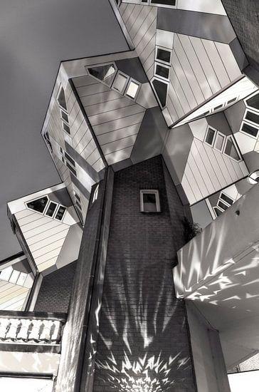 Kubuswoningen aan de Blaak in Rotterdam van Evert Jan Luchies