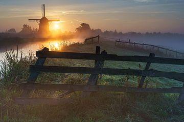 Rietveld molen met zonsopkomst