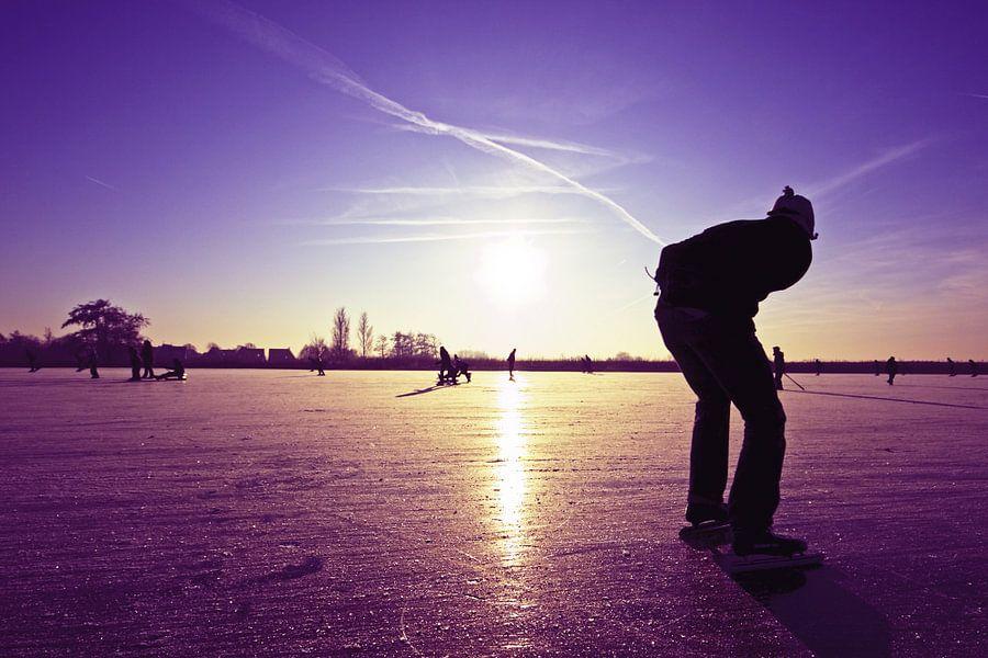 Eenzame schaatser