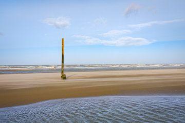 Post am Strand von Koksijde von Johan Vanbockryck