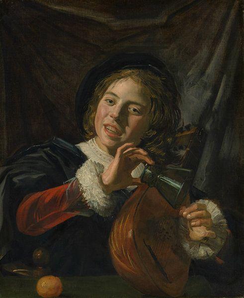 Junge mit einer Laute, Frans Hals von Meesterlijcke Meesters