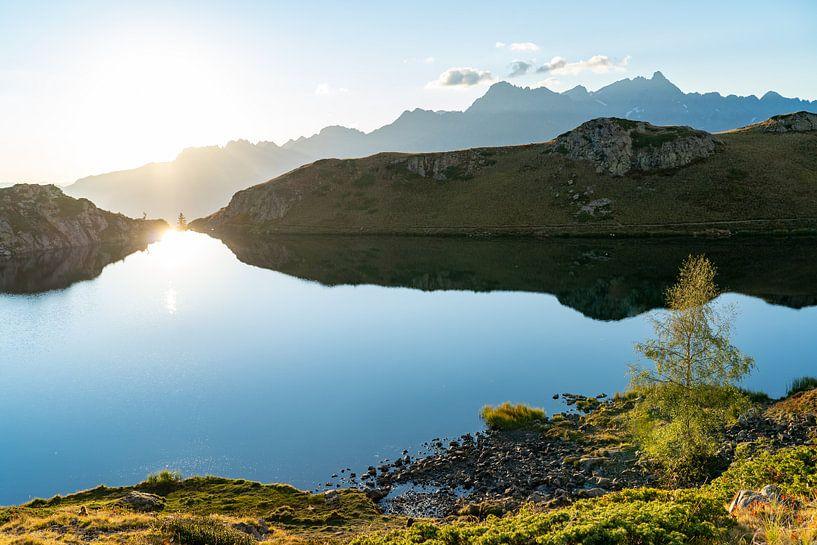 Zonsondergang in de bergen van Frankrijk van Martijn Joosse