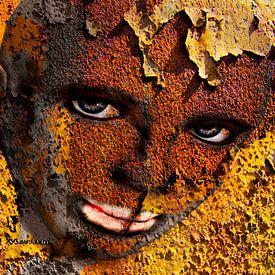 Virtual Face In Grafitti sur Yvon van der Wijk