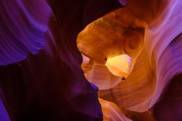 Kleurenspektakel in Antelope Canyon van Richard van der Woude
