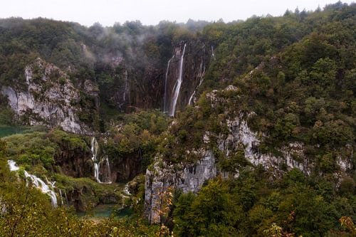Plitvice watervallen van Roy Poots
