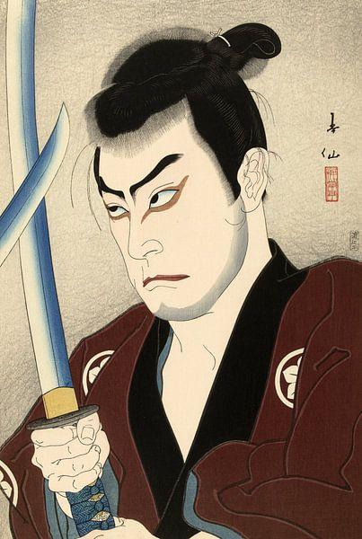 Der Schauspieler Sawada Shojiro als Hayashi Buhei, Natori Shunsen von 1000 Schilderijen