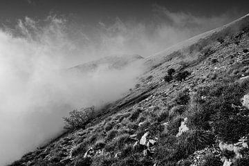 Les nuages gravissent les montagnes sur Ellis Peeters