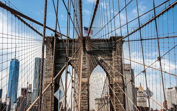 Brooklyn Bridge, New York City van M. Cornu