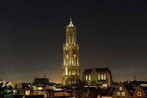 Stadsgezicht van Utrecht met Domtoren en Domkerk