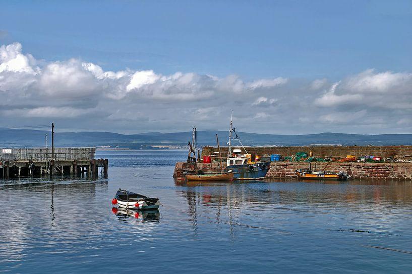 Vissershaven in Cromarty, Schotland van Hans Kwaspen