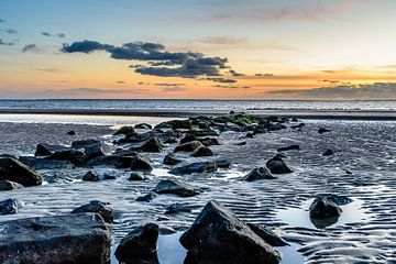 Zonsondergang Hollumer strand von Jan Hoekstra
