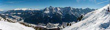 panoramafoto skigebied slick2000 fulpmes stubai van Erik van 't Hof